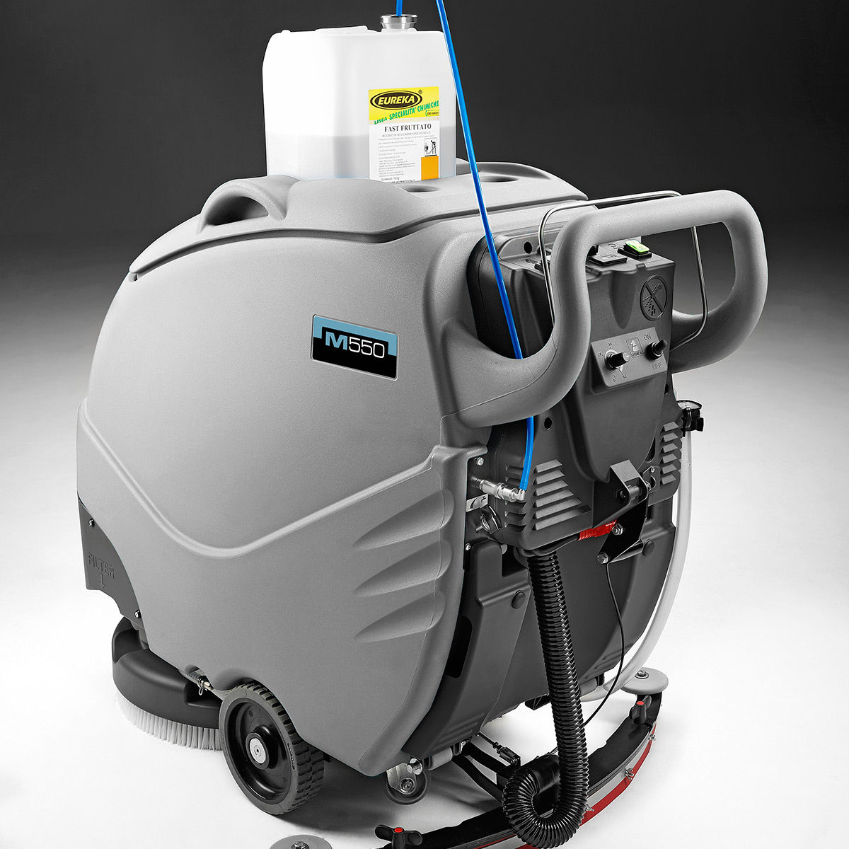MACH M550 WALK BEHIND SCRUBBER WITH DOSE-MATIC SYSTEM