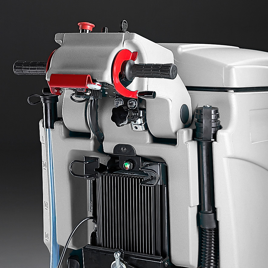 MACH M510 WALK BEHIND SCRUBBER WITH ONBOARD BATTERY CHARGER