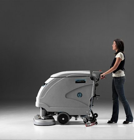 MACH M810 WALK BEHIND SCRUBBER WITH DUAL BRUSHES