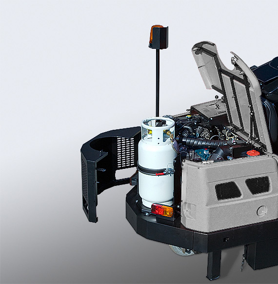MACH 6 RIDE-ON SWEEPER LPG-PETROL HYBRID