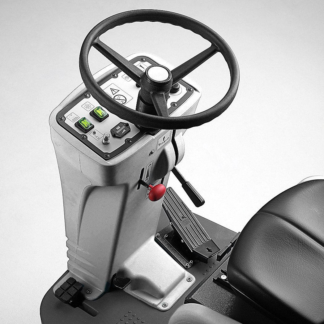 M830 RIDE ON SCRUBBER IS USER FRIENDLY WITH INTUITIVE MANUAL CONTROLS