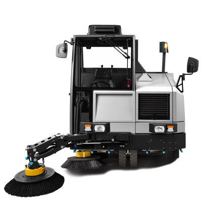 EXTENDIBLE FRONT BRUSH | MACH 8 Industrial Sweeper