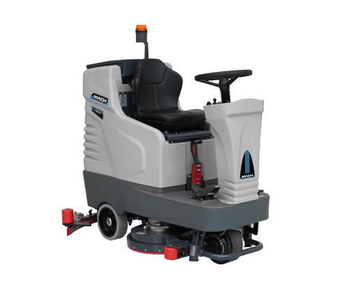 M750 MACH RIDE ON SCRUBBER REDUCE CLEANING AND LABOR COSTS
