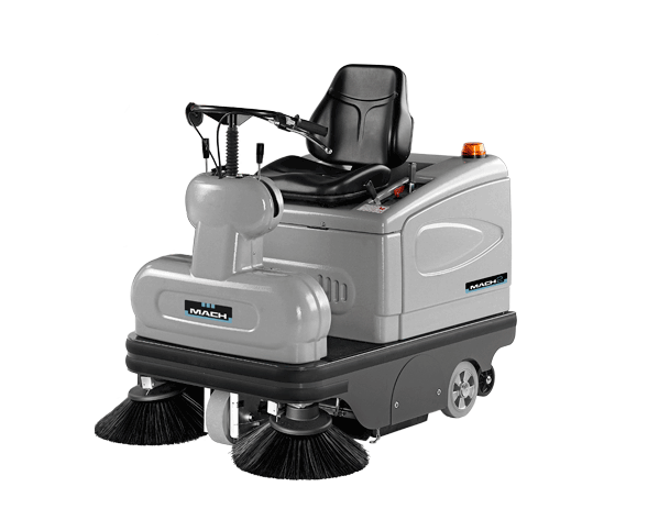 MACH 2 SWEEPER, POWERFUL LIKE A RIDE-ON AGILE LIKE A WALK-BEHIND